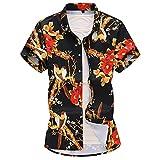 Camisas para Hombre Camisas de Manga Corta con Estampado de Moda de Talla Grande de Verano Camisas de Manga Corta Sueltas de un Solo Pecho Informal de Calle XL