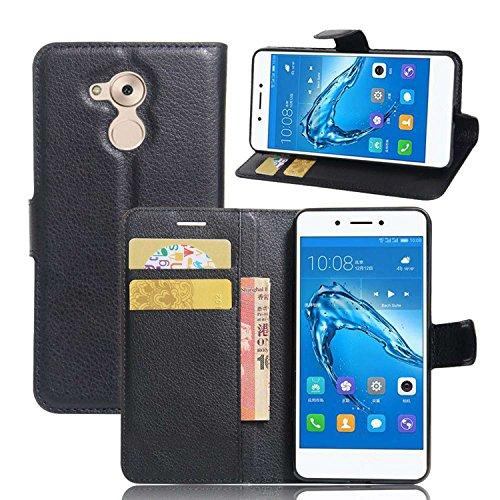 Ycloud Custodia Cover per Huawei Nova Smart Portafoglio Tasca Book Folding Custodia in Pelle con Supporto di Stand Cover Case Custodia Pelle con Stilo Penna Nero