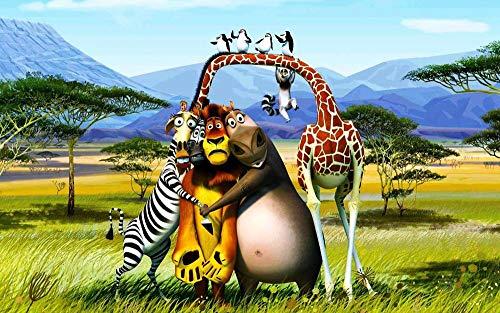 lcyqq puzzle Juegos 1051 piezas madera Jigsaw adultos niños Chico Chica Regalo de Cumpleaños y Vacaciones Decoraciones para hogar Personaje Madagascar