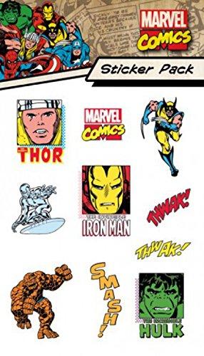 1art1 Marvel Comics, Characters, Sticker Pack Set De Pegatinas (15x10 cm) Y 1x Pegatina Sorpresa