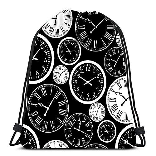 FETEAM Mochila Deportiva Gimnasio Bolsa Reloj para Mujeres Hombres Niños De Gran Tamaño