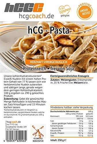 hCG Pasta, Lower Carb Nudeln (250 g)