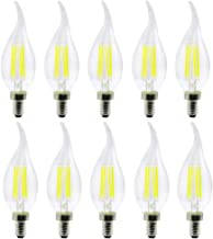 Led bulbs, YWXLIGHT, E12 LED Bulb Filament Bulb LED Candle Lamp 4W Equivalent Replacement 35W Halogen Lamp AC 110-130V Vin...