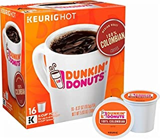 32 Count - Dunkin Donuts Colombian Coffee K-Cups For Keurig K Cup Brewers (2 boxes of 16 k cups)