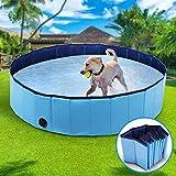 Wimypet Piscina Mascotas, Piscina Perros, Bañera Plegable para Niños/Mascotas, Plegable Piscina de Baño al Aire Libre, Piscina con PVC Antideslizante - Azul (80 * 20CM)