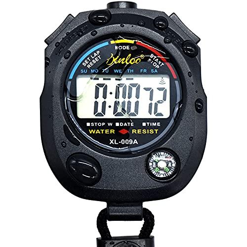 Sport - Cronómetro, digital de cristal líquido, portátil, cronógrafo, contador de tiempo, cronómetro, alarma