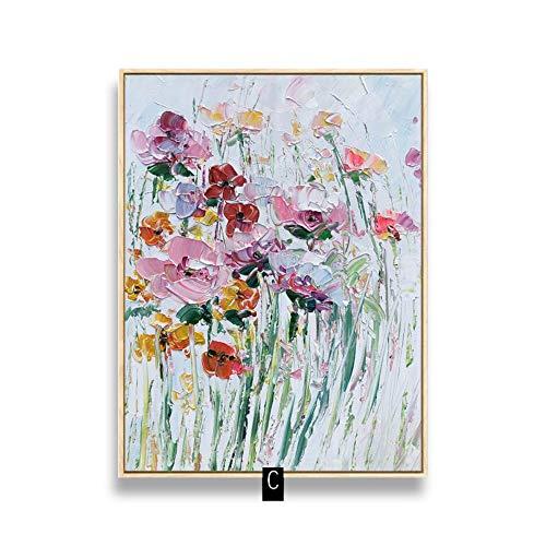 Pittura Ad Olio Dipinto A Mano Su Tela,Paesaggio Astratto Dipinti,Fiori Colorati Field,Di Grandi Dimensioni Parete Moderna Decorazione Per Il Soggiorn