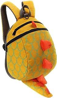 Children Kids Boys Girls Fashion Cute Cartoon 3D Dinosaur Shoulder School Bags New Anti Zhaozb (Color : Yellow)