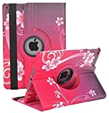 iPad 2/3/4 Case - 360 Degree Rotating Stand Smart Case Protective Cover with Auto Wake Up/Sleep Feature for Apple iPad 4, iPad 3 & iPad 2 (Love Heart)
