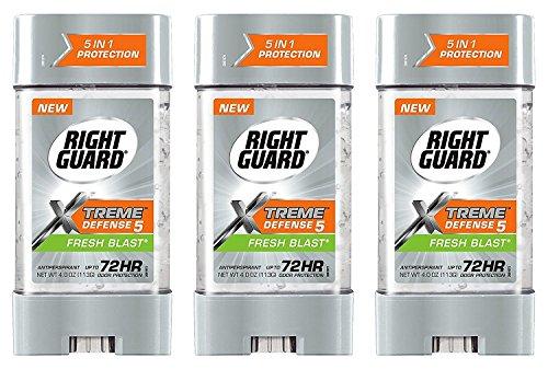 Right Guard Total Defense Anti-transpirant Déodorant Gel Puissance fraîche souffle (4 oz pack de 3)