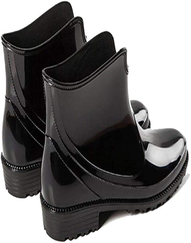 FORTUN Women's rain Boots Short Waterproof Rubber shoes Water shoes