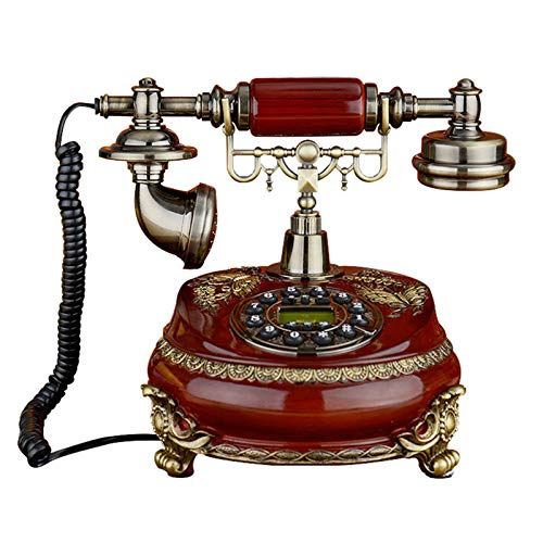JFF Retro Vintage Estilo Antiguo Teléfono Teléfonos Fijos Pasados De Moda Estilo Europeo Retro ID De Llamada Pantalla Teléfono Fijo para Oficina En Casa