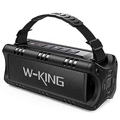 W-KING Bluetooth Speaker, 30W Portable Wireless Speakers Waterproof, 24 Hours Playtime, 5000mAh Battery with Powerful Bass, TWS, NFC, TF Card, USB Playback - Loud Speaker for Home, Party, Outdoor from Shenzhen Weiking Technology Coltd