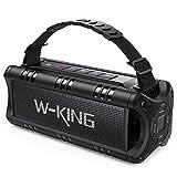 W-KING 30W Enceinte Bluetooth, Portable Puissant Haut Parleur, 24 Heures d'Autonomie en Lecture, 5000mAh Batterie, Baffle Bluetooth avec NFC, Carte TF, Clé USB