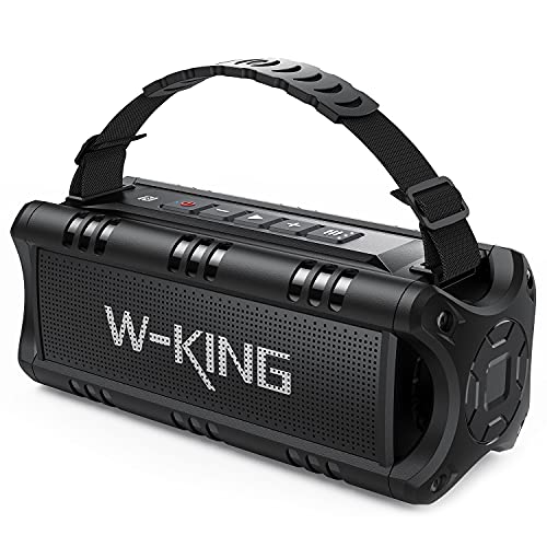 Bluetooth Speaker, W-KING 30W Portable Wireless Speakers Waterproof, 24...