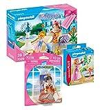 Geobra Brandstätter Playmobil 70293 Princess - Set de regalo de princesa + 70247 Princesa en el estanque de cisne + 70239 reina de corazón
