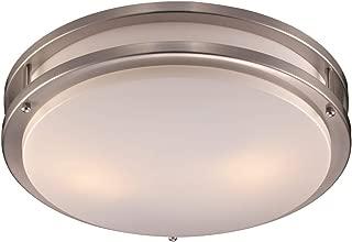Trans Globe Imports LED-10262 BN One Light Flush Mount 17.00 inches, Brushed Nickel
