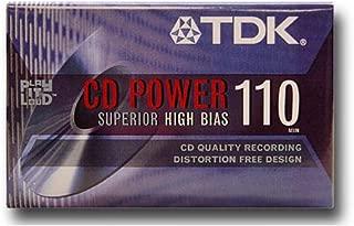 TDK CD POWER AUDIO CASSETTE 110 MINS