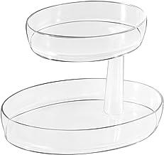InterDesign Clarity 2 Tier Vanity Tray - Medium, Clear