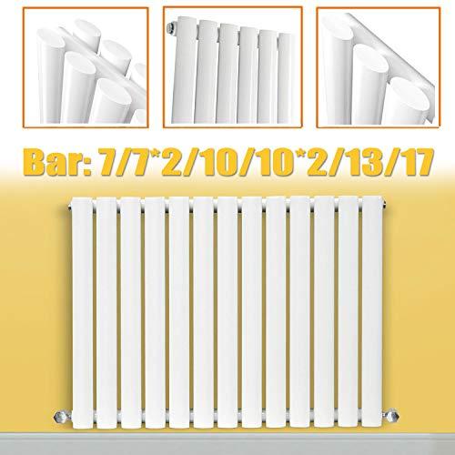 Wit 600 x 413mm Horizontaal Ovaal Paneel Ontwerper Radiator Badkamer Centrale Verwarming