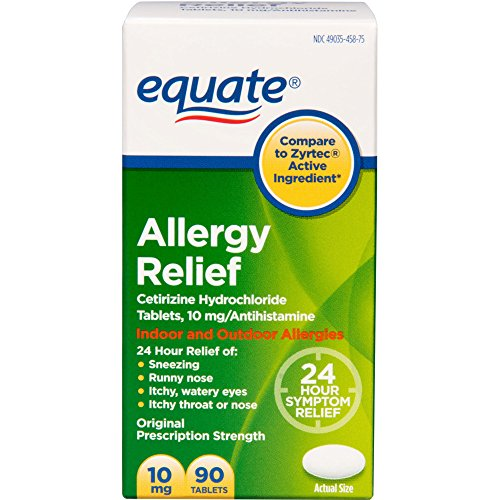 Equate - Allergy Cetirizine 10 Mg Tablets (compare To Zyrtec), 90-Count