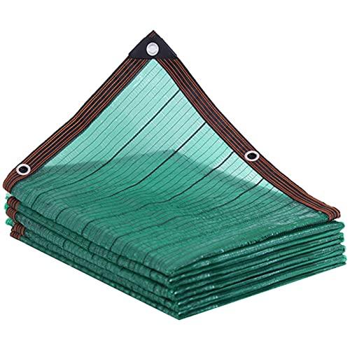 Tela de protección solar de malla para balcón, patio, invernadero, toldo para pérgola, con un anillo de bloqueo antidesgarro, protección solar para coche, piscina y jardín
