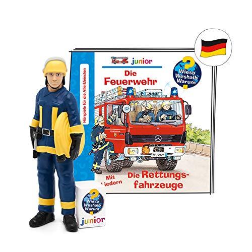 tonies Hörfiguren - Toniebox Figur Wieso Weshalb Warum - Die Feuerwehr / Rettungsfahrzeuge - ca. 53 Min - ab 3 Jahren - DEUTSCH