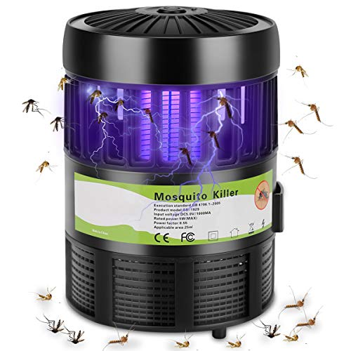 RockBirds Mosquito Killer and Bug Zapper, Rockbirds Indoor Electric Fly Trap, Killer Mosquitoes & Bug by LED Light and Non-radiative, Black