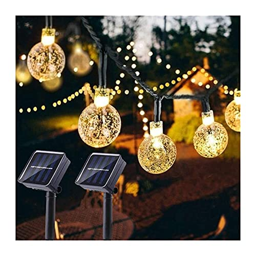 Solar String Lights 23ft 50 LED Outdoor Garden Lights Solar/USB Powered Waterproof Crystal Ball Decorative Lights Fairy Lights Used For Patio Yard Terraces Courtyards Weddings Parties Indoor/Outdoor