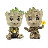 Leegicst Groot Treeman Planter Flower-Pot - Guardians Galaxy Groot Tree Man Flower Pot or Pens Holder - Tiny Succulents Plants for Kids(C)