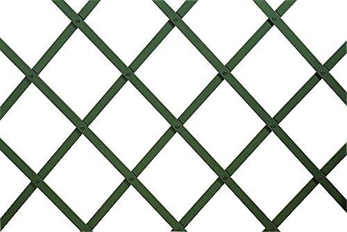 VERDELOOK Traliccio Estensibile in plastica, 100x200 cm, Verde, Decorazioni terrazza