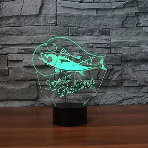 Speer Angeltisch Lampe 3D Led 7 Farben Kreative Weihnachtsgeschenke Schlafzimmer Studie Atmosphäre Fisch Nachtlicht Schlaf Leuchte