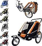 Leon Papilioshop - Remolque para cochecito de paseo de 1 a 2 niños (naranja)
