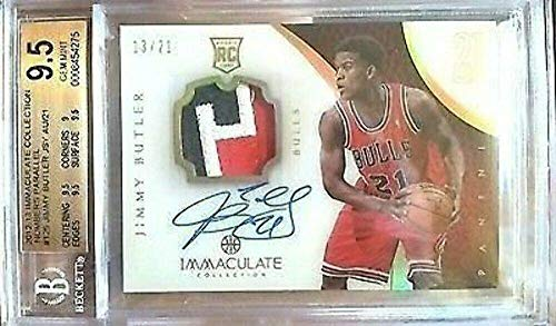 Jimmy Butler 12-13 Immaculate Acetate Auto Rookie Patch 21 Jersey Number Bgs 9.5 - Autographed NBA Jerseys
