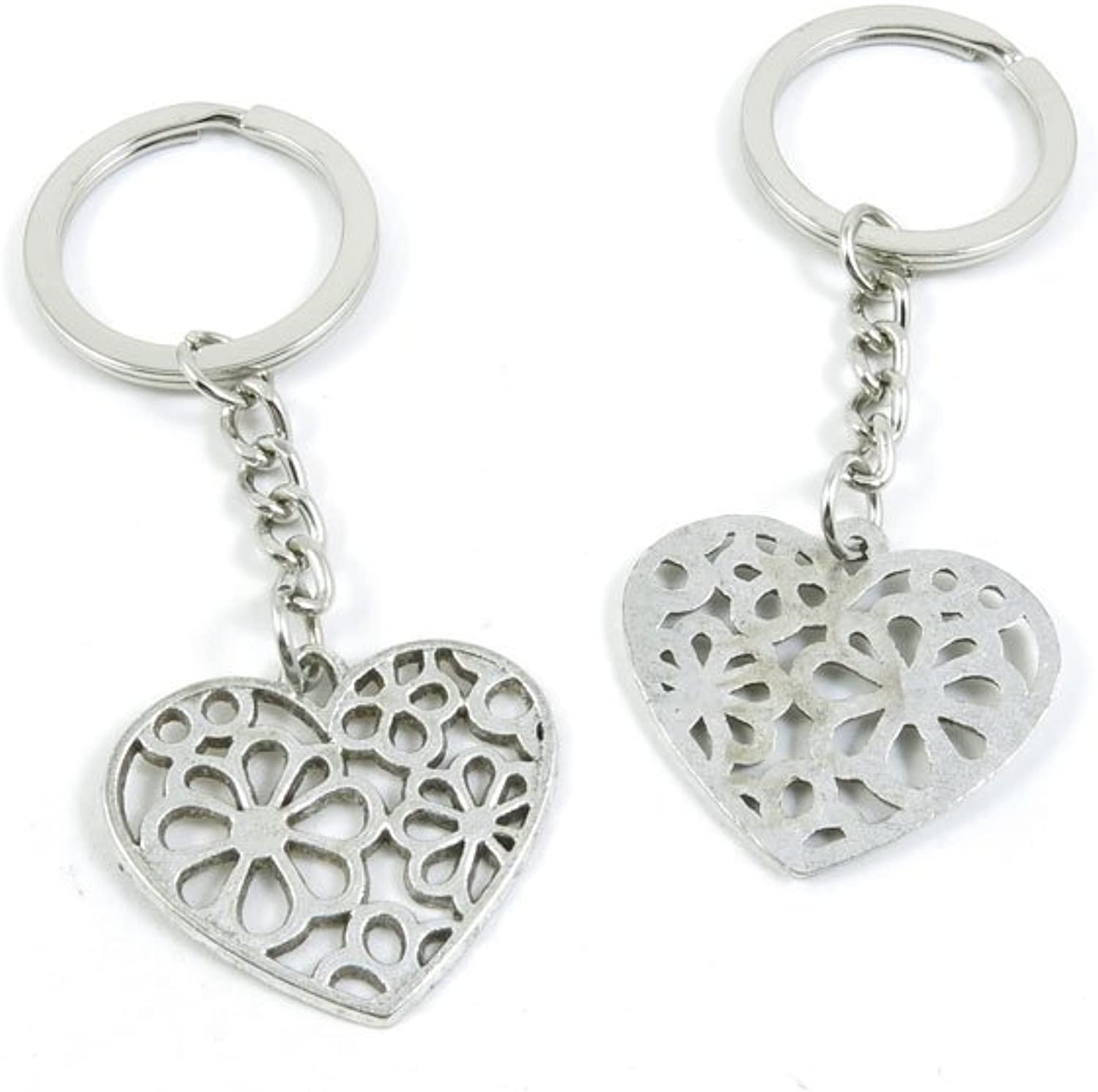160 Pieces Fashion Jewelry Keyring Keychain Door Car Key Tag Ring Chain Supplier Supply Wholesale Bulk Lots M1BR6 Flower Heart