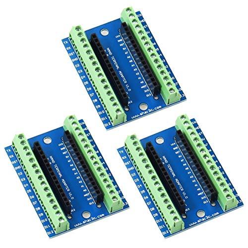 YXPCARS I/O Expansion Board Terminal Shield Tarjeta de expansión de E/S para Arduino para Nano