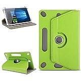 NAUC Universal Tablet Tasche Hülle für 10-10.1 Zoll Schutzhülle Tablettasche mit Standfunktion 360° drehbar hochwertige Verarbeitung viele Motive Universal Tablethülle Hülle, Farben:Grün