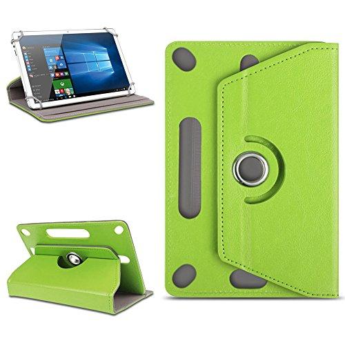 Universal Tasche mit Ständerfunktion Hülle für Smartbook S10 / S10Q Tablet Schutztasche Schutzhülle Stand Cover Case hochwertige Leder-Optik, Farben:Grün