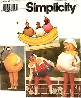 Simplicity 7415 Costume Sewing Pattern Banana Sundae Humpty Dumpty Baseball Pumpkin Tomato