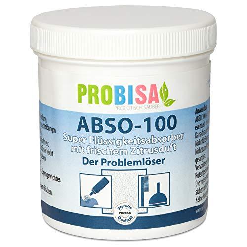Probisa Spezialreiniger für Mensch und Tier - Flüssigkeitsabsorber zur Bindung von Erbrochenem, Urin und Kot mit frischem Zitrusduft