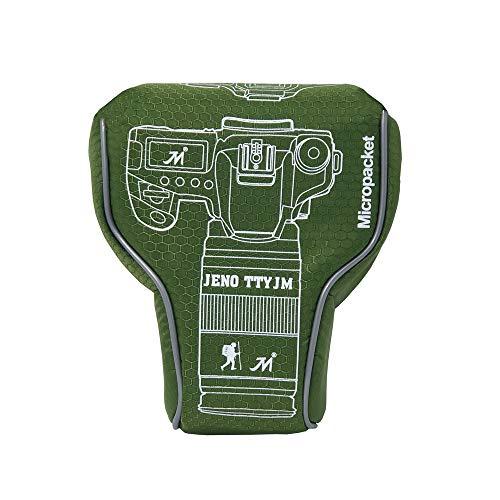 Nikon D3500 Camera Case, Zakao Mirrorless Camera Pouch Hoes Hoes voor Nikon D3400 D3500 met 18-55mm Lens, J5 10-100mm, Z6 Z7 24-70mm, Groen