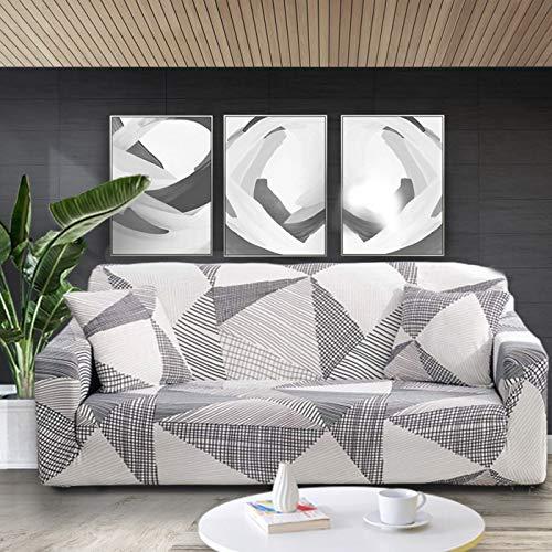WXQY Funda elástica para sofá con Estampado Floral Fundas para sofá Fundas para sofá para Sala de Estar Sofá de Esquina Toalla Funda para sofá Funda para Muebles A5 3 plazas