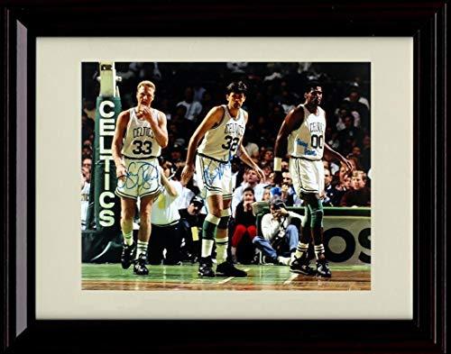 Framed Larry Bird, Kevin McHale and Robert Parish Autograph Replica Print - Celtics