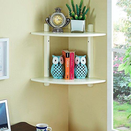 ZhuFengshop Drijvende planken, driehoekige planken, gescheiden planken, creatieve planken, hoeklaminaat 40 * 40 * 48,5 cm aan de wand bevestigd display Shelf