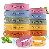 Skymore Bracelet Fibre de Citronnelle pour Adultes/Enfant (Paquet de 12) - Taille Réglable,Bracelets pour l'intérieur et les Voyages