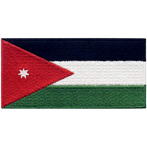 EmbTao Jordanien Flagge Bestickter Aufnäher zum Aufbügeln/Annähen