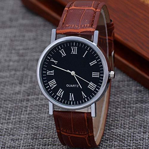 SANDA Relojes De Pulsera,1 Pieza Nuevo Reloj Ultrafino Pop para Hombre Relojes de Tres Ojos para Hombre Reloj de Pulsera de Negocios con cinturón de Cristal Azul de Cuarzo-Estilo6