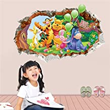 FangKuai FKAL0251 Animals Zoo Cartoon Winnie Pooh Home Bedroom Decals Wall Stickers For Kids Rooms Wall Decals Nursery Party Supply Gifts Poster