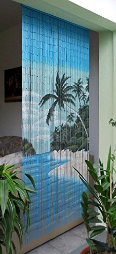 Unbekannt Bambustürvorhang Bambusvorhang, Seychellen ca. 115 x 220 cm, 115 Stränge