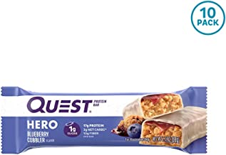 Quest Nutrition Hero Protein Bar, Blueberry Cobbler, 10 Count